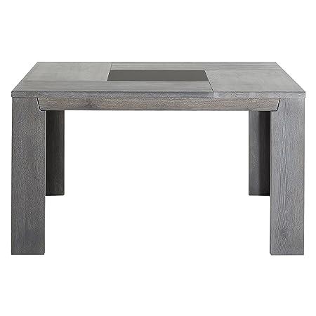 Keo 0607TACA TITAN Table carrée pour 8 personnes Chêne massif/Placage chêne  140 x 140 x 77,5 cm