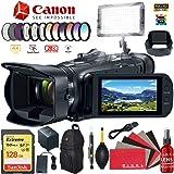Canon Vixia HF G50 UHD 4K Camcorder (Black) Vlogger Bundle (Color: Black, Tamaño: Add LED Light and Memory)