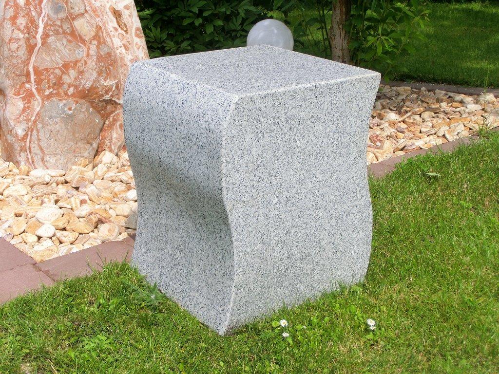 Hocker Granit 40 cm x 40 cm x 50 cm (gewellt) jetzt bestellen