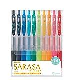 Zebra Sarasa Clip 0.4, 10 Color Set (JJS15-10CA) (Tamaño: 10 Color)