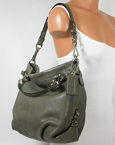 Coach Leather Brooke Shoulder Hobo Bag Purse 14142 Black 97