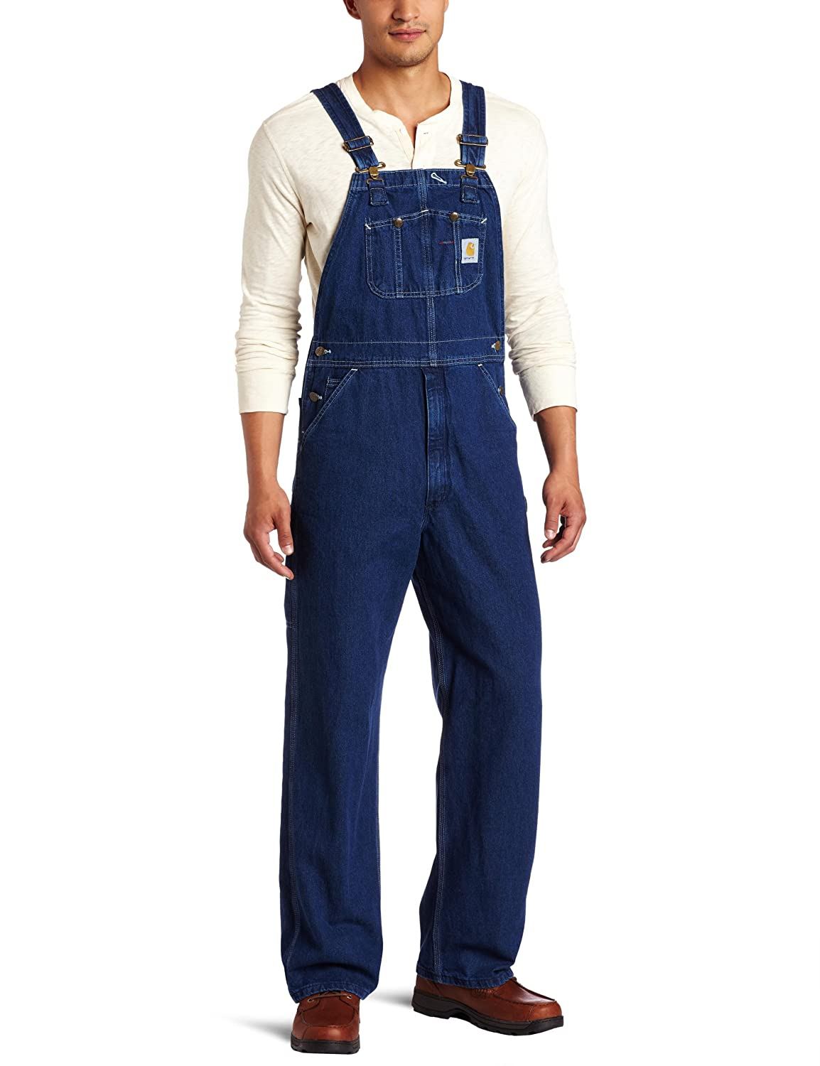 Guys in Bib Overalls Denim Bib Overall Unlined