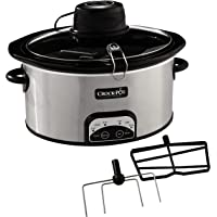 Crock-Pot 6-Quart Digital Slow Cooker with iStir Stirring System (Silver)