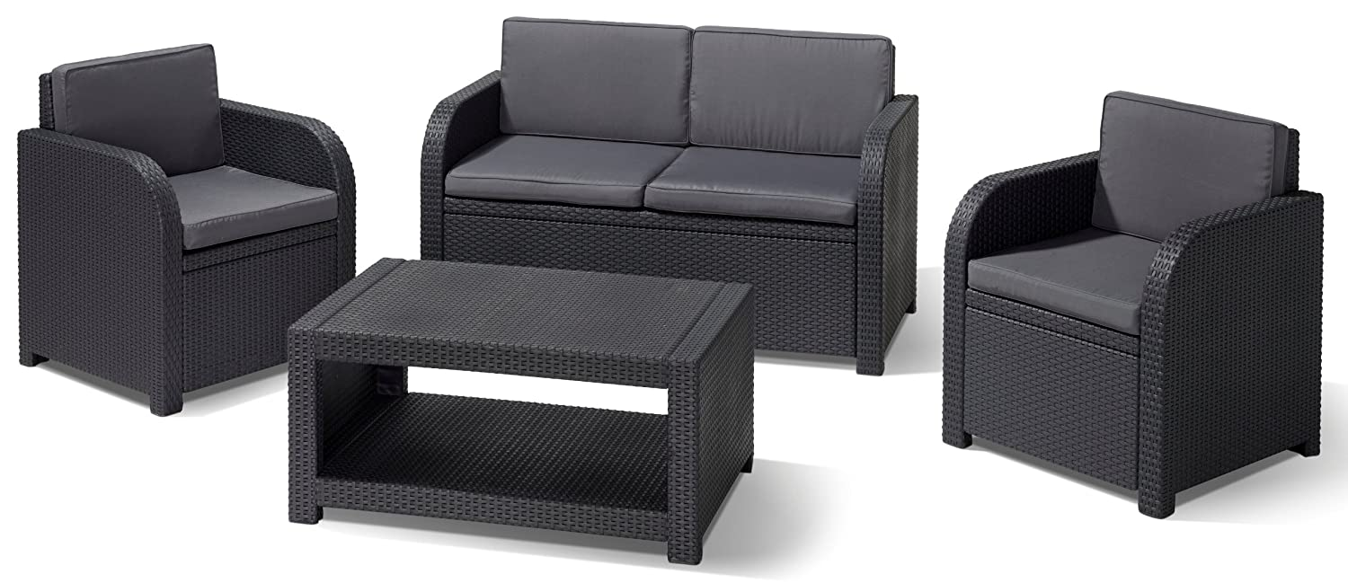 Allibert Lounge Set Modena, Grau, 4-teilig