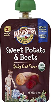 12-Pk. Earths Best Organic Sweet Potato & Beets