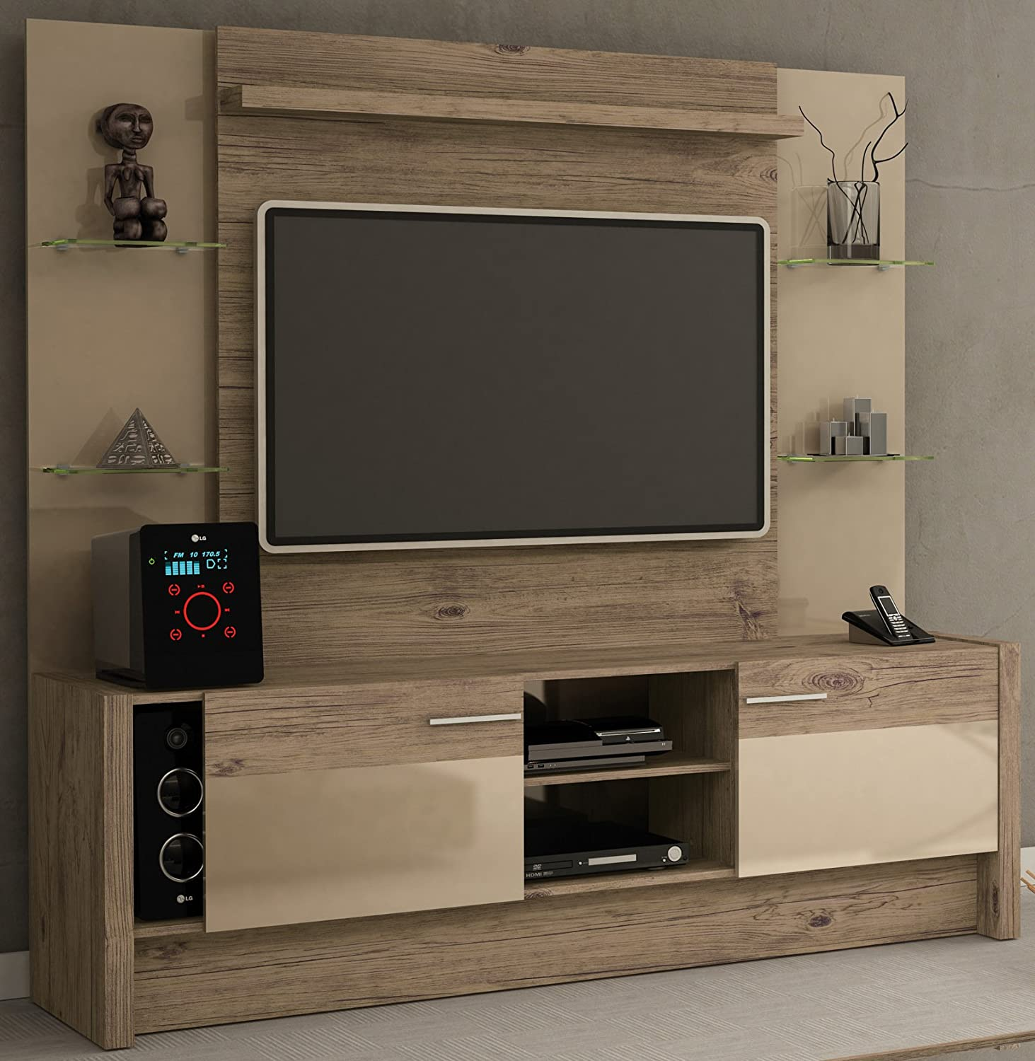 Manhattan comfort morning side entertainment for In wall tv cabinet