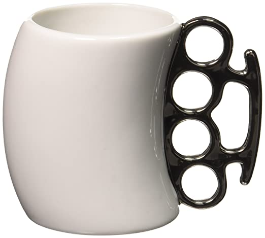 Amazon.com: Fred & Friends FISTICUP Ceramic Knuckleduster Mug: Coffee Cups: Kitchen & Dining