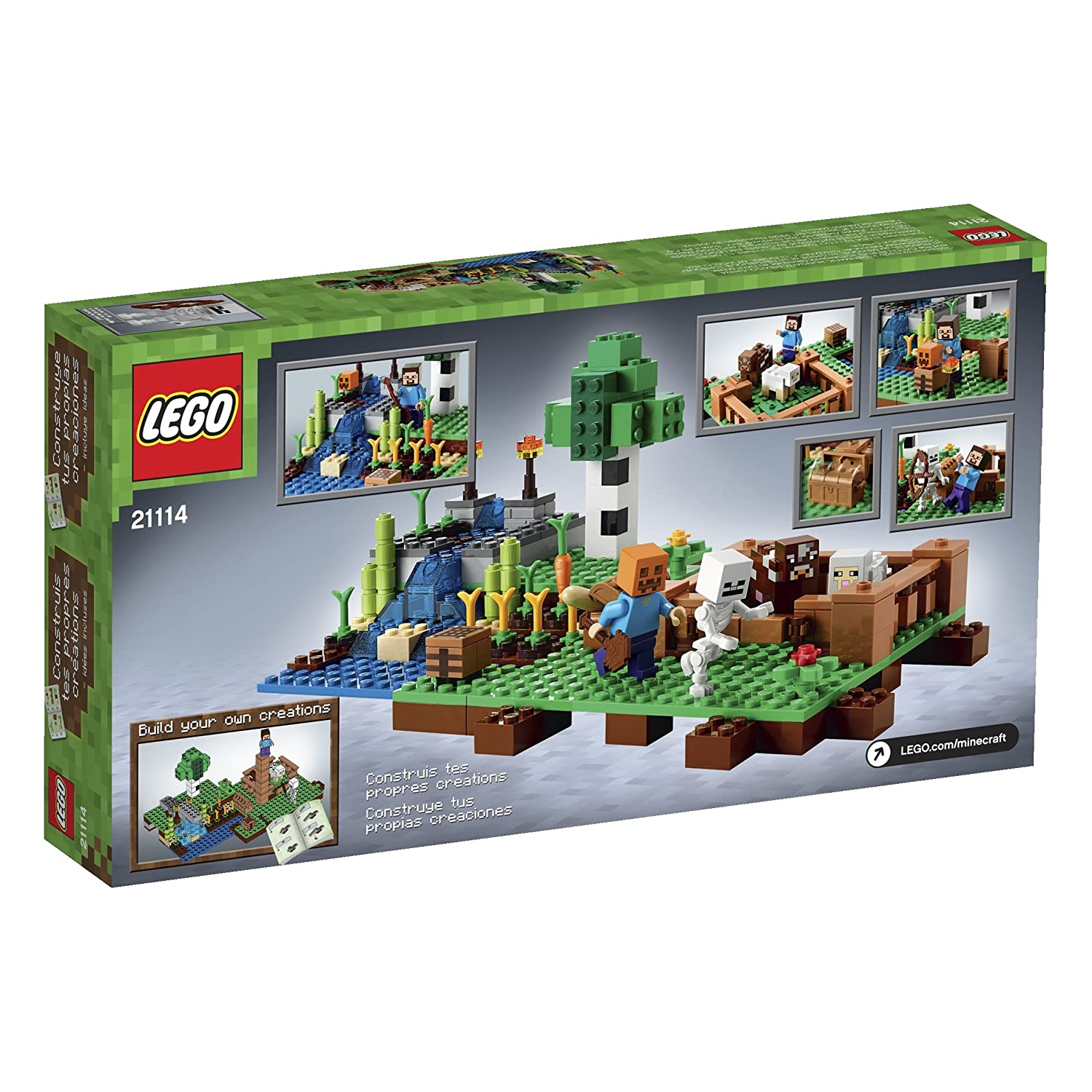 Pictures Of Lego Minecraft Toys 21134 The Waterfall Base Farm 21114 Playset New Toy For Kids