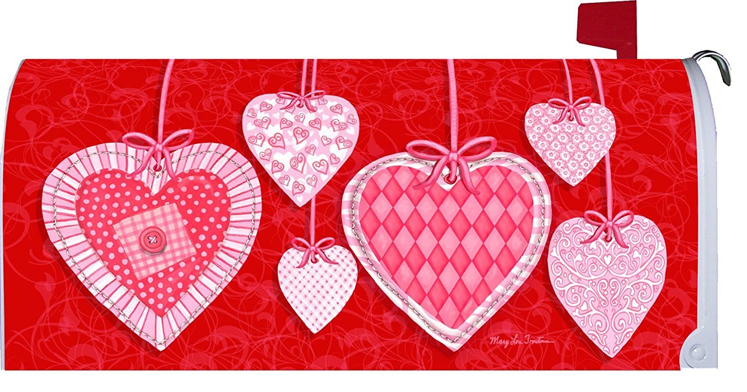 Valentine Heart Strings Magnetic Mailbox Cover