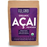 Organic ACAI Powder (Freeze-Dried) - 16oz Resealable Bag (1lb - 100% Raw Antioxidant Superfood Berry From Brazil - by Feel Good Organics … (Tamaño: 16 Ounce Bulk Size (453g))