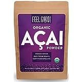Organic ACAI Powder (Freeze-Dried) - 16oz Resealable Bag (1lb - 100% Raw Antioxidant Superfood Berry From Brazil - by Feel Good Organics … (Tamaño: 16 Ounce Bulk Size (453g))