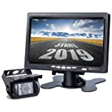 Upgrade Backup Camera Monitor Kit,1024X600 HD,IP69 Waterproof Rearview Reversing Rear View Camera 7'' LCD Reversing Monitor Truck/Semi-Trailer/Box Truck/RV — HD Transmission, Four-pin — DVKNM (TZ101) (Color: DTZ, Tamaño: DTZ )