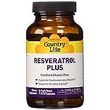 Country Life Resveratrol Plus, Antioxidant - 120 Vegetarian Capsules (Tamaño: 120)