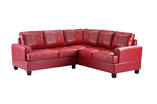 Glory Furniture G589B-SC Sectional Sofa, Red, 2 boxes
