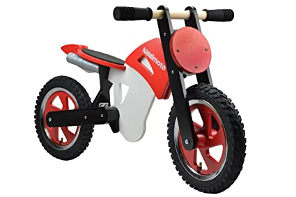 Kiddimoto - 916/202 - Vélo et Véhicule pour Enfant - Scrambler Red Black White