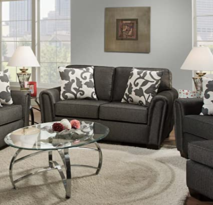 Chelsea Home Furniture Veronica Loveseat, Talbot Onyx