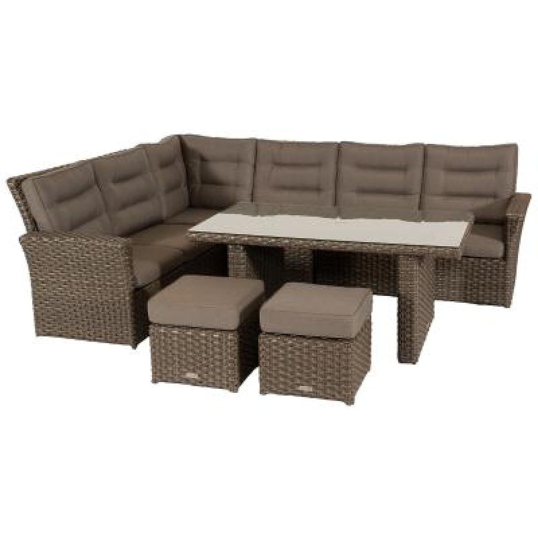Hartman Ceylon 7-teilige Lounge-Sitzgruppe mit Tisch ceylon grey