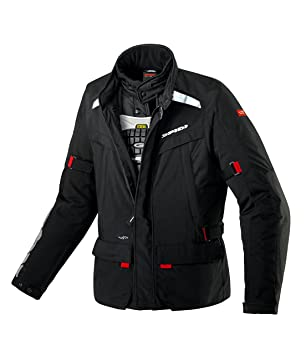 Spidi d 129-026 moto superhydro veste imperméable pour homme-noir-taille 4XL