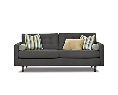 Klaussner Craven Sofa, 86 by 37 by 32-Inch, Charcoal