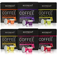 Nespresso Compatible Gourmet Coffee Capsules - 120 Pod Variety Pack
