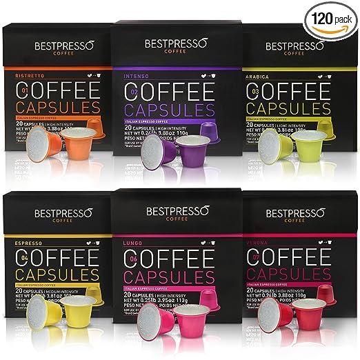 Nespresso Compatible Gourmet Coffee Capsules Via Amazon