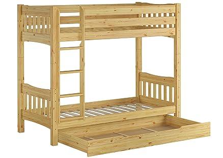 60.15-09 S1 letto a castello in legno di pino 90x200 cm