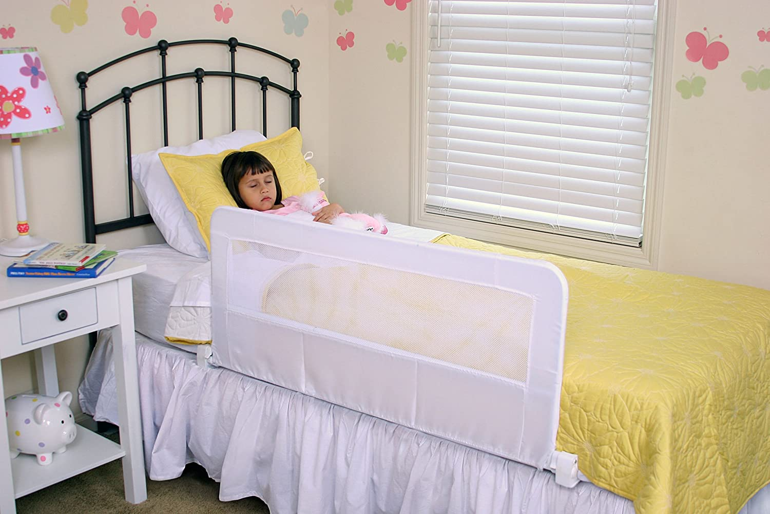 bed rail baby toddler infant crib mattress sliding safe. Black Bedroom Furniture Sets. Home Design Ideas