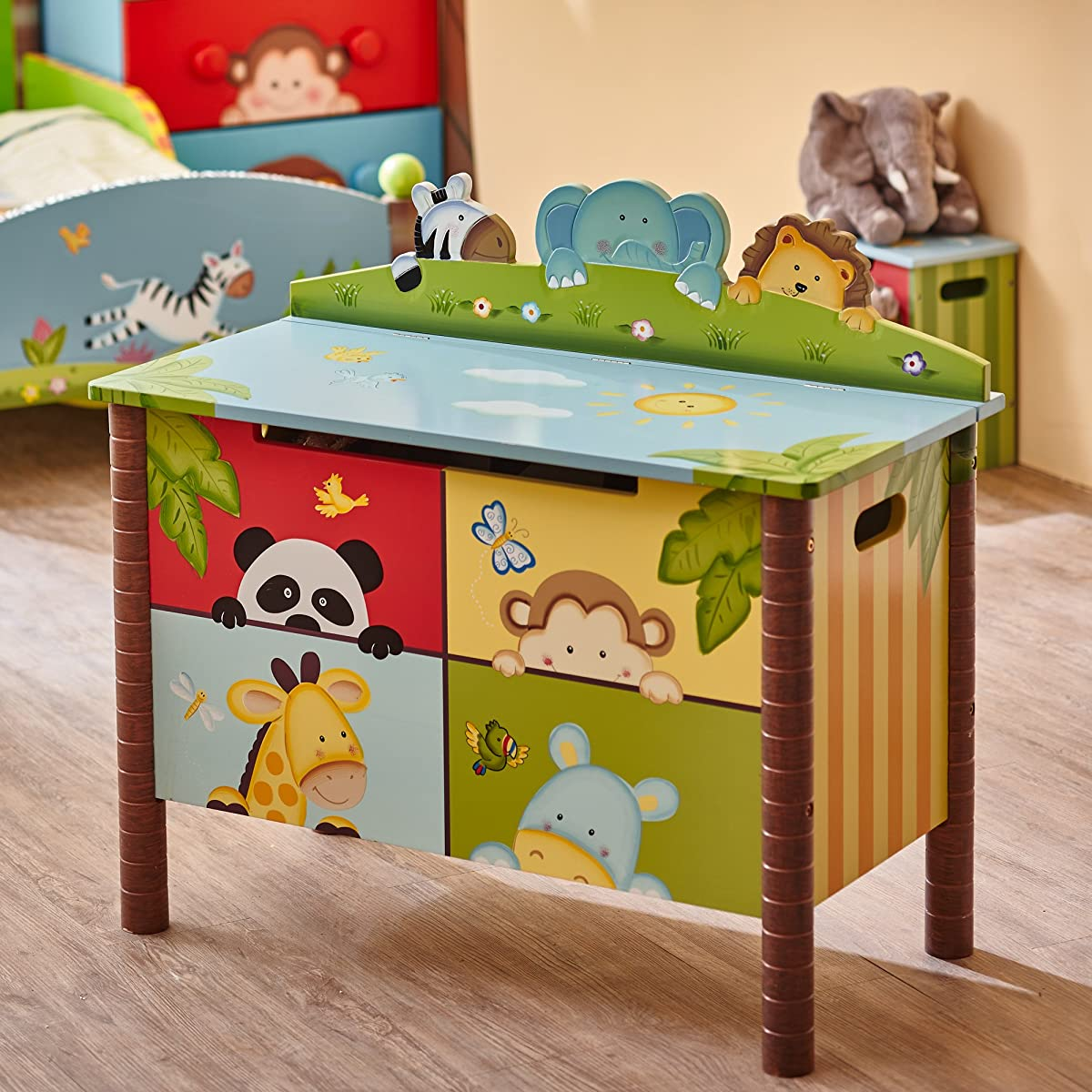 Kids Wooden Toy Chest with Safety Hinges | Imagination Inspiring Hand Crafted