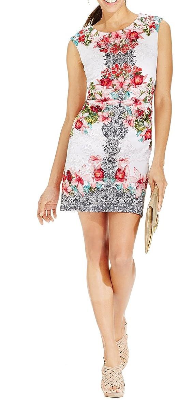 Sandra Darren Women's Petite Sheath Floral Lace Dress