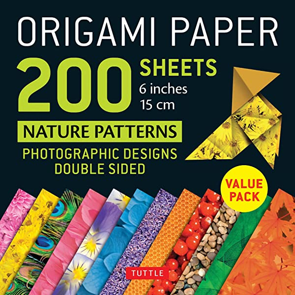 Origami Paper 200 sheets Nature Patterns 6 (15 cm): Tuttle Origami Paper: High-Quality Origami Sheets Printed with 12 Different Designs: Instructions