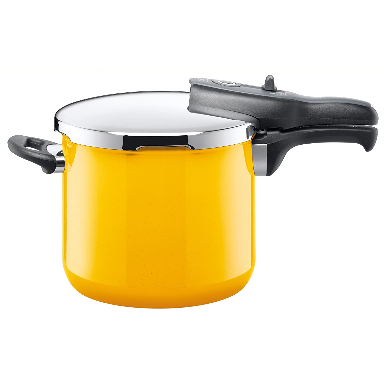 Silit Sicomatic t-plus pressure cooker, without insert, 6.5l, Silargan, Crazy Yellow, also suitable for induction, 8207173314