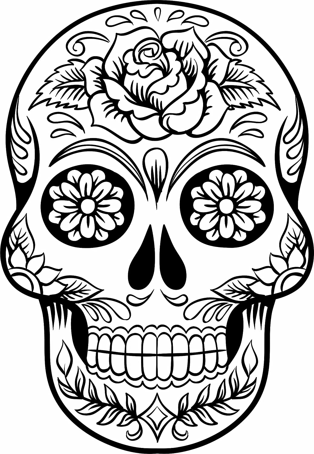 96 best sugar skulls images on pinterest tattoo designs for Free sugar skull coloring pages