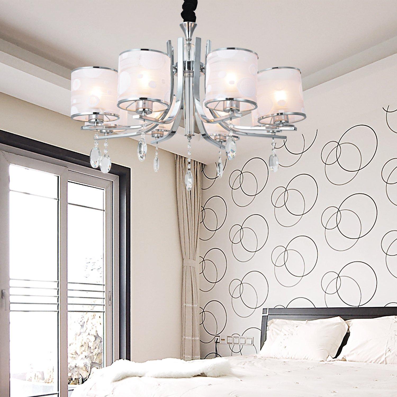 OOFAY LIGHT Moderne Splendid 8 Lichter Kronleuchter mit Kristall- Tropfen online kaufen
