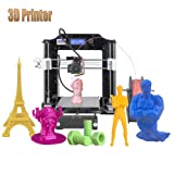 ALUNAR Upgraded DIY Desktop 3D Printer Reprap Prusa i3 Kit, High Accuracy Self-Assembly Tridimensional FDM Printer, Multicolor Printing Machine (Color: M508, Tamaño: Black 3D Printer)
