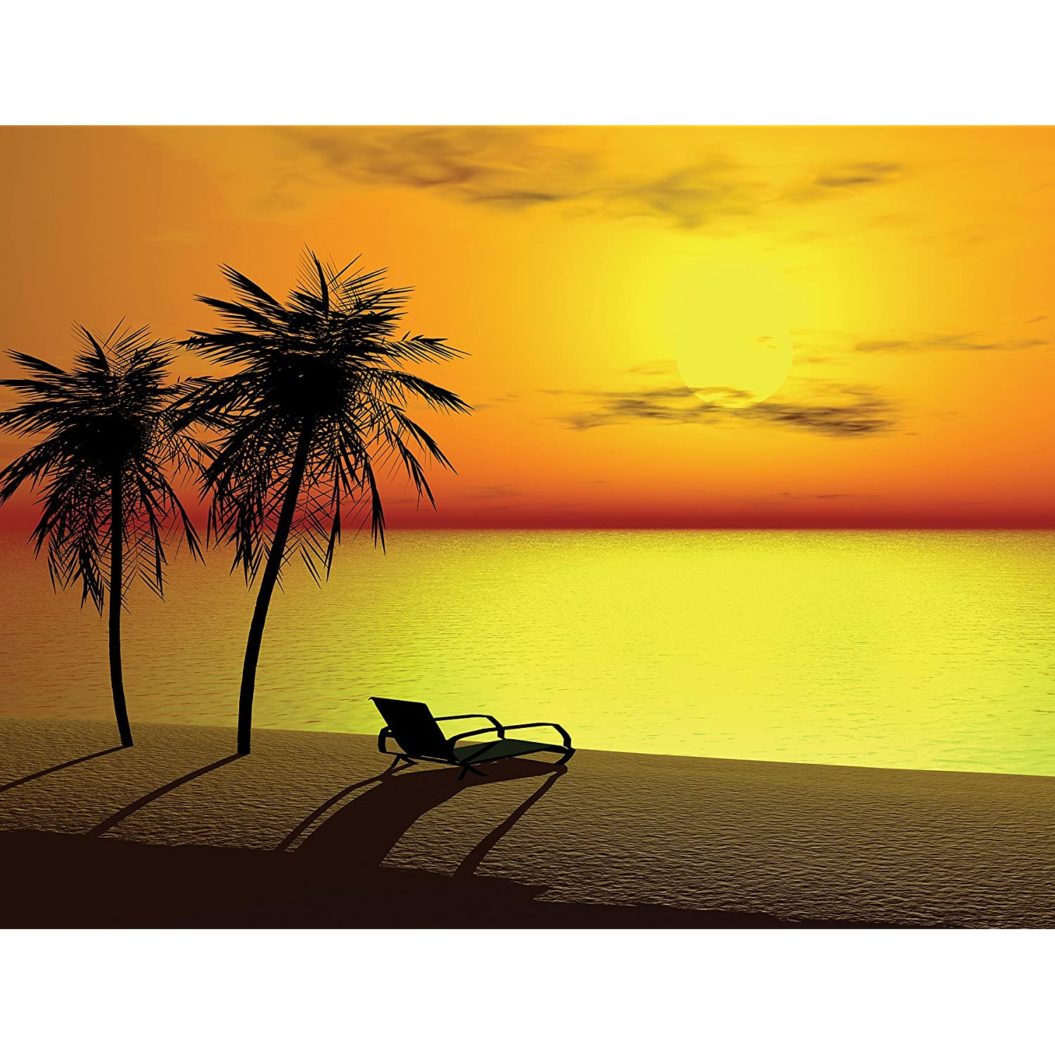 pics photos sunset beach wall mural sunset mural wall murals ireland