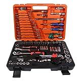 OCGIG 121PCS Socket Set Auto Car Repair Kit Mechanics Tool (Color: 121 Pcs Combination Wrench and Socket Set)