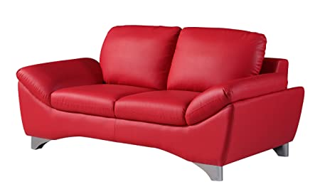 Global Furniture Natalie Loveseat, Red