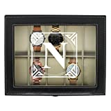 Personalized Watch Storage Box - Custom Engraved Watch Holder Case (Black) (Color: Black)