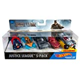 Hot Wheels Justice League Toy Vehicle (Amazon Exclusive) (Tamaño: 5-Pack)