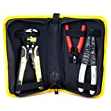 Wire Stripper Crimping Tool Kit, 8 Inch Self-Adjusting Wire Stripper, Automatic Wire Stripping Tool with Multi-Tool Wire Cutter and Wire Cutter, Cutting Pliers Tool with Storage Bag