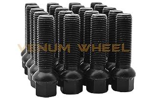 4pc 10 /& 15mm Staggered Kit W// 20 Black Bolts 14x1.5 Fits Audi Volkswagen Jetta