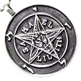 Sigil of Baphomet Samael Lilith Lucifer laveyan satanism Pendant Pewter W Silver Ball Chain