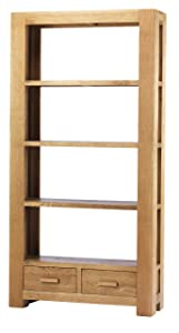 K.Interiors Collection Chester Oak Large Bookcase with Matt Lacquer Finish, Brown       reviews and more news