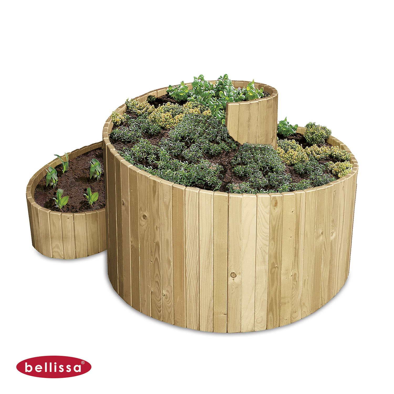Kräuterspirale Holz 120 x 120 cm 95480 günstig