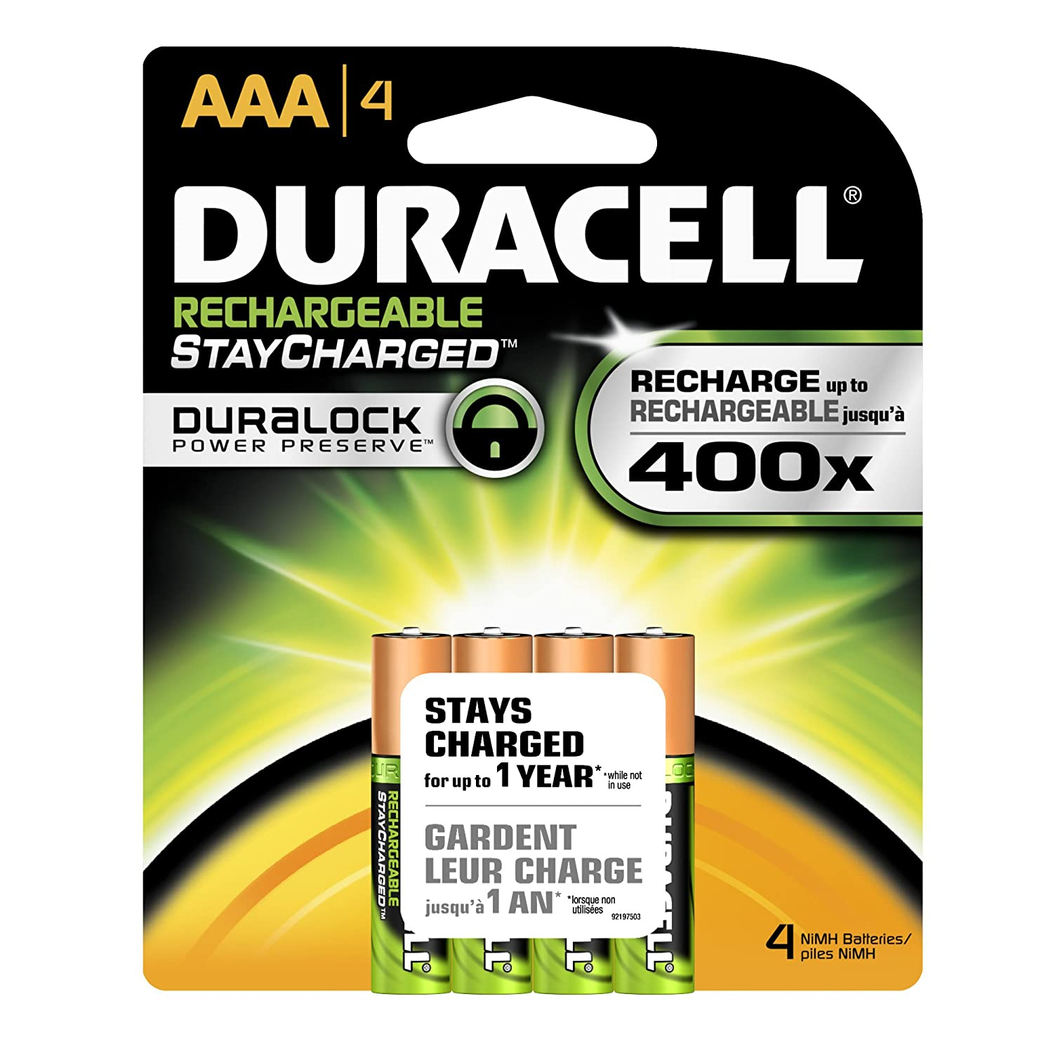 Amazon - 4 Duracell Rechargeables StayCharged AAA Batteries - $5.50