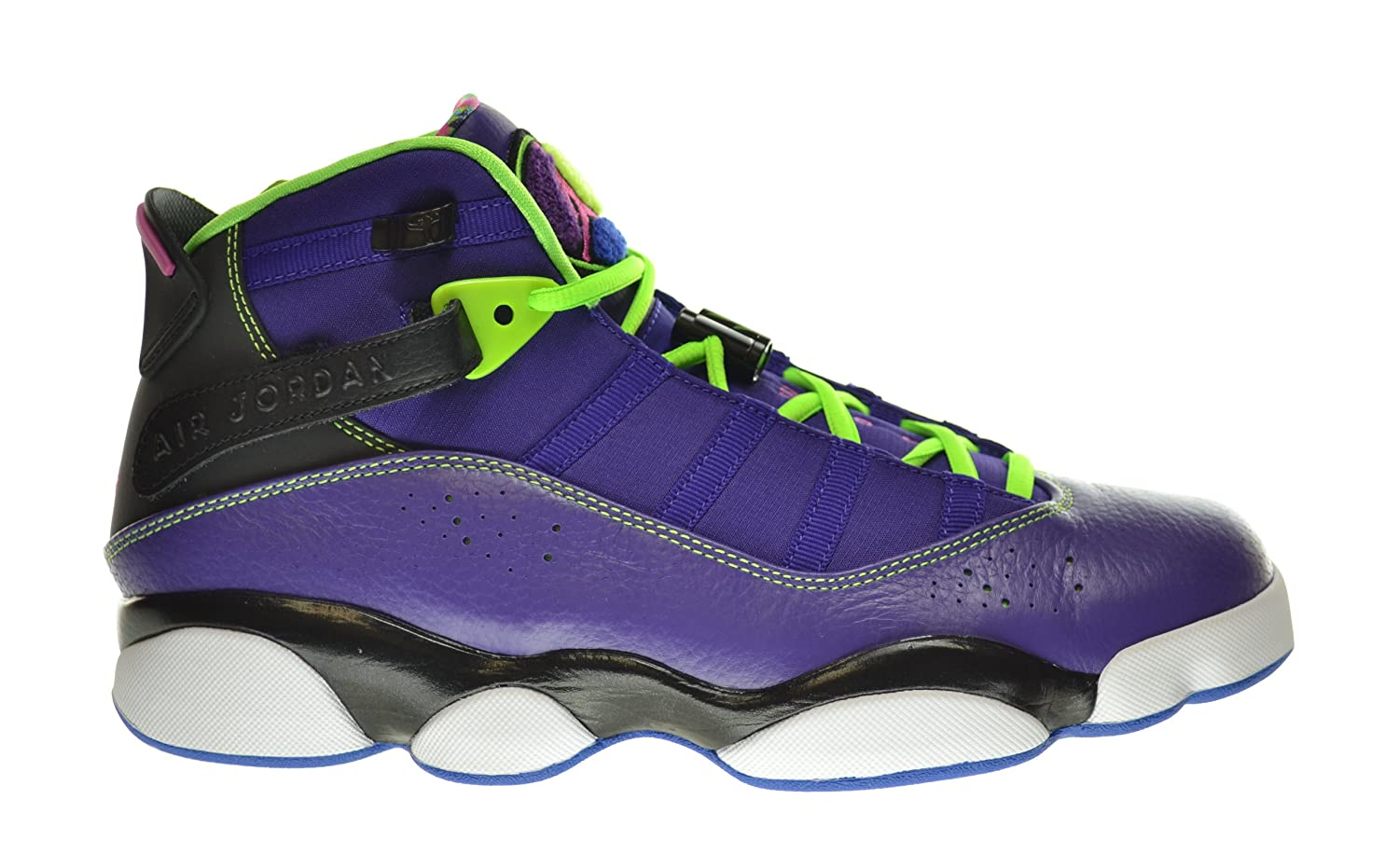 Nike Jordan 6 Rings Men Shoes Sneakers Color: Court Purple/Black/Flash Lime