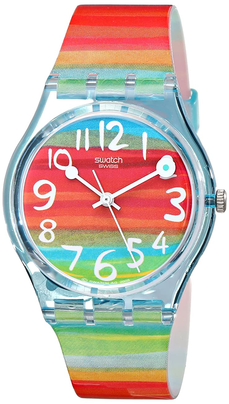 Swatch Women's GS124 Quartz Rainbow Dial Plastic Watch 0