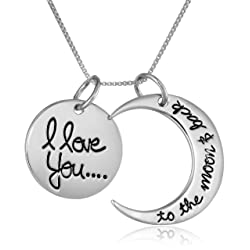 Sterling Silver 'I Love You To The Moon and Back
