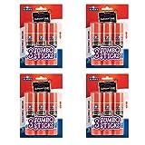 Elmers E579 Jumbo Disappearing Purple School Glue Stick, 1.4 Ounce, 4 Packs of 3 Sticks, 12 Sticks Total (Tamaño: 12 Count (1.4 oz))