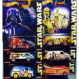 Hot Wheels Pop Culture 2015 Star Wars Complete Set of 6 Cars - Case E ASSORTMENT (CFP34-956E)